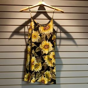 Vintage 90s sunflower dress. Size small